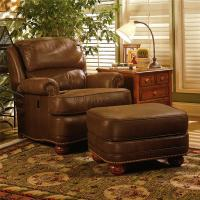 Upholstered Tilt-Back Reclining Chair & Ottoman by Smith ...