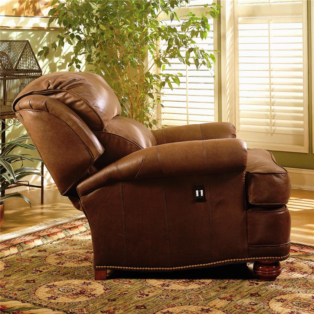 Tilt Back Chair Upholstered Tilt Back Reclining Chair Ottoman By Smith Brothers