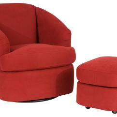 Small Swivel Chair Slip Covers Australia Contemporary Barrel And Ottoman With Casters By Smith