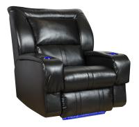 Wall Hugger Recliner with LED Lights & Cup-Holders by ...