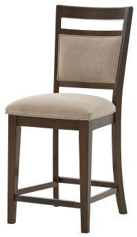 Counter Height Chair with Upholstered Seat and Back with ...