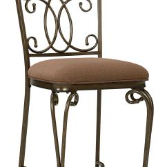 Upholstered Counter Chairs Swivel Chair Parts Height With Ornate Metal Back By Standard