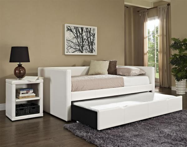 Twin Upholstered Daybed With Trundle Standard Furniture