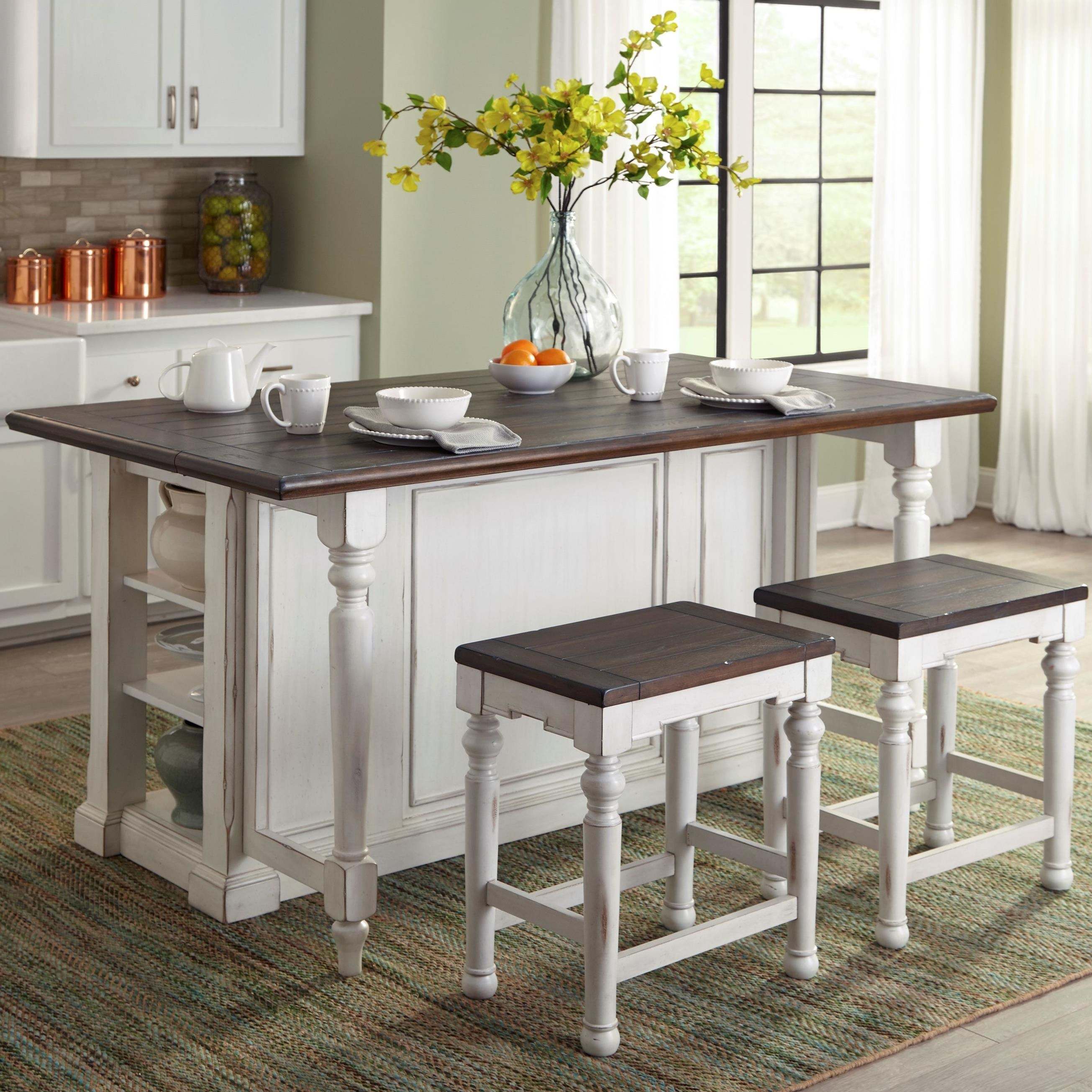 kitchen island set metal frame outdoor 3 piece with gate leg by sunny designs wolf and gardiner furniture