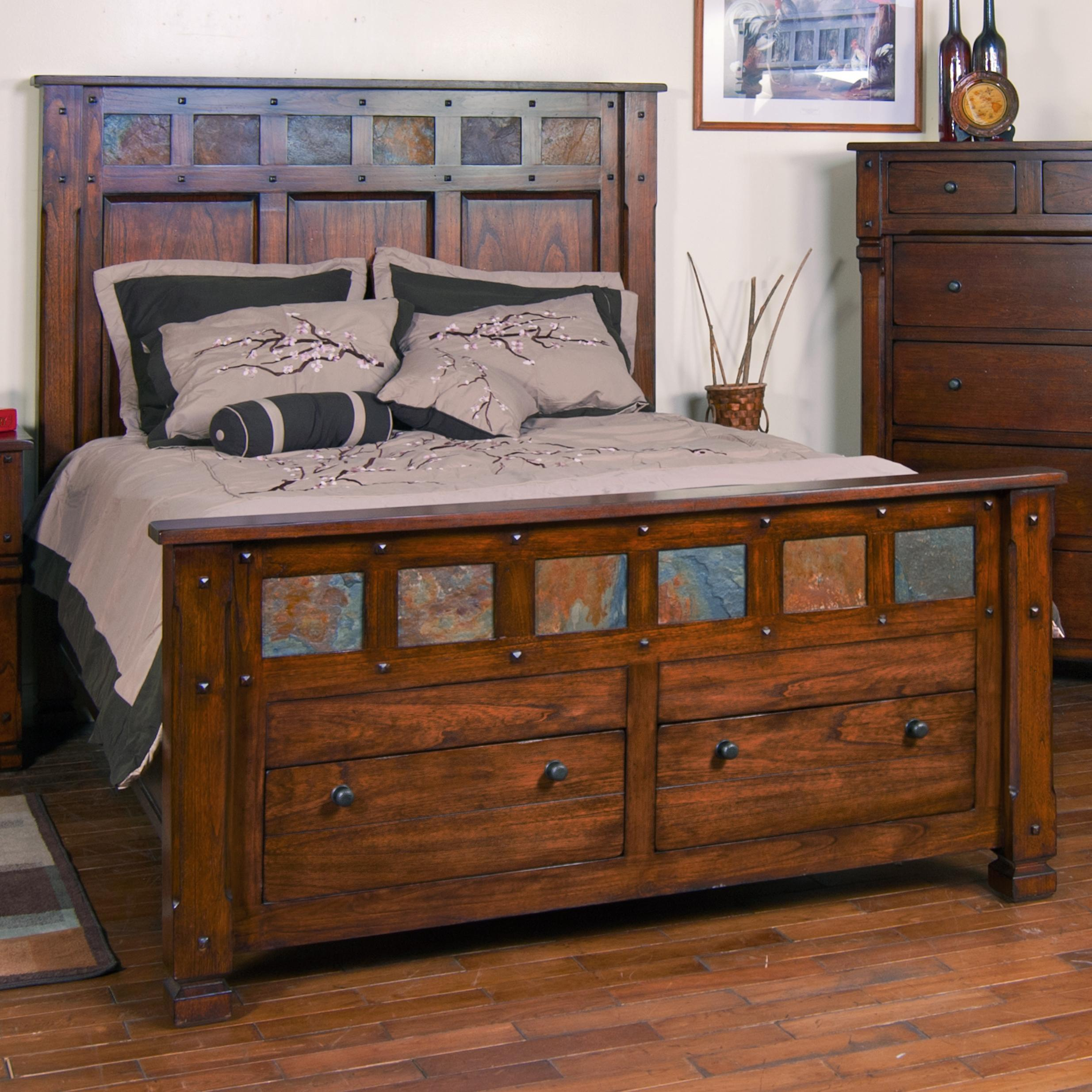 King Storage Bed With Slate By Sunny Designs
