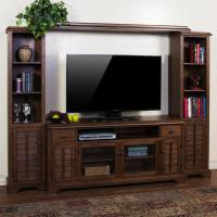 """Entertainment Wall Unit w/ 65"""" W TV Console by Sunny ..."""