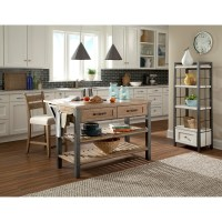 Reunion Kitchen Island with Drop-Front Table Extension ...