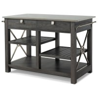 """""""Here Comes Temptation"""" Kitchen Island with Stainless ..."""