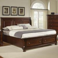 King Storage Bed with Sleigh Headboard by Vaughan Bassett ...