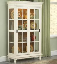 Curio Cabinet with Crown Moulding, Turned Feet, and ...