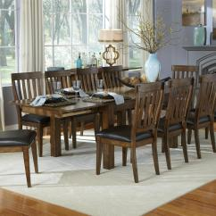 Breakfast Table And Chairs Set Pottery Barn Baby High Chair 11 Piece Dining Slatback By Aamerica