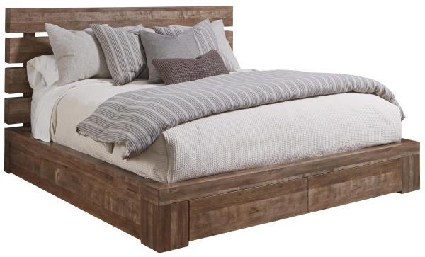 Queen Platform Bed with Storage