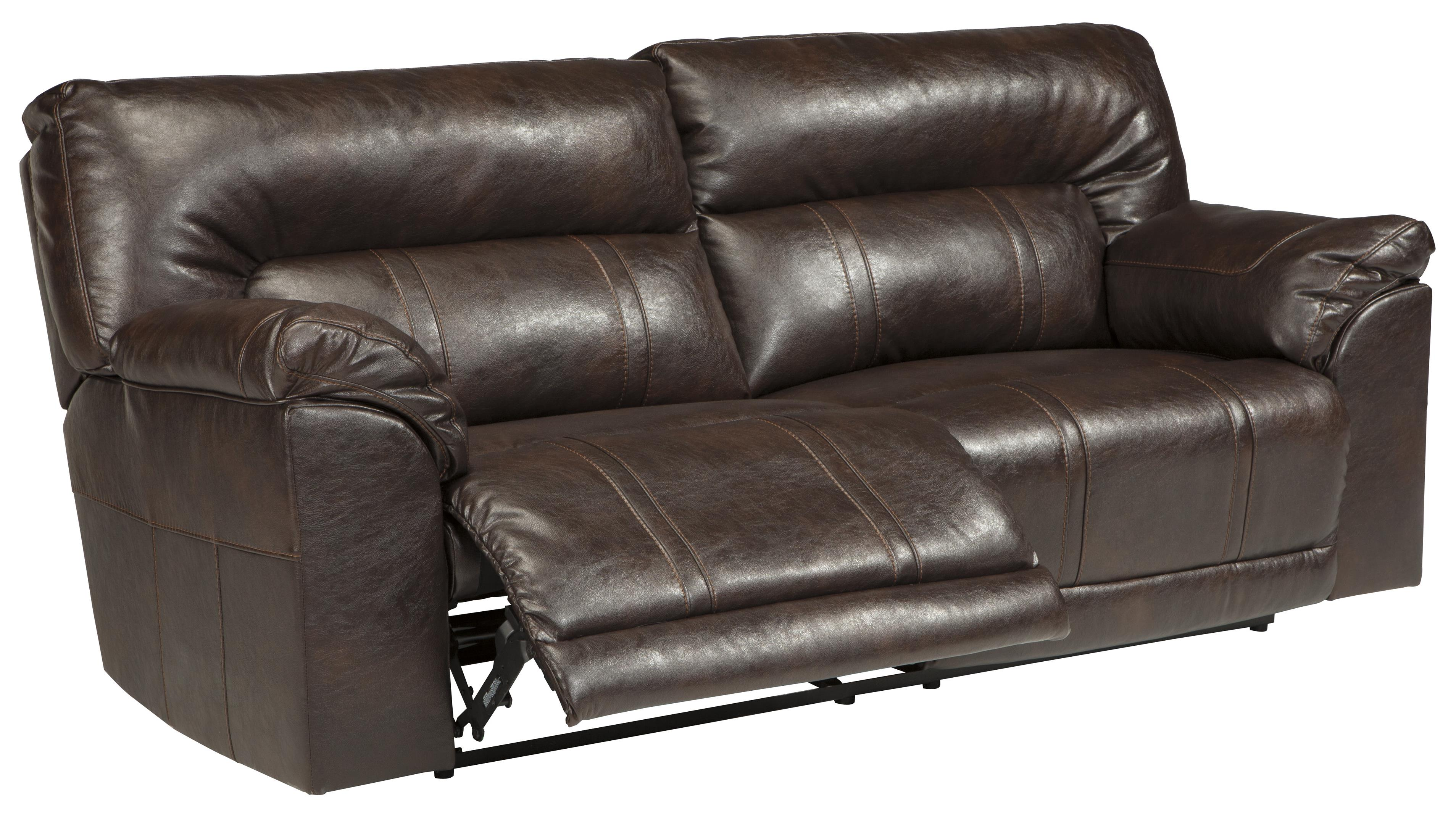 faux leather reclining sofa set sofas n more medicine hat 2 seat by benchcraft wolf