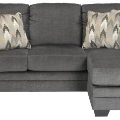 Contemporary Gray Fabric Sofa Rochelle Chaise In By Benchcraft