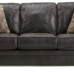Rolled Arm Sofa With Nailhead Trim Klaussner Cliffside Reviews Faux Leather Queen Sleeper Arms And