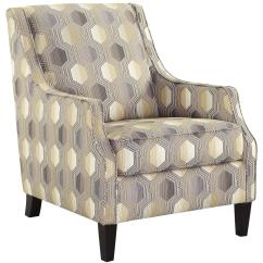 Geometric Accent Chair High Top Chairs With Fabric By Benchcraft Wolf