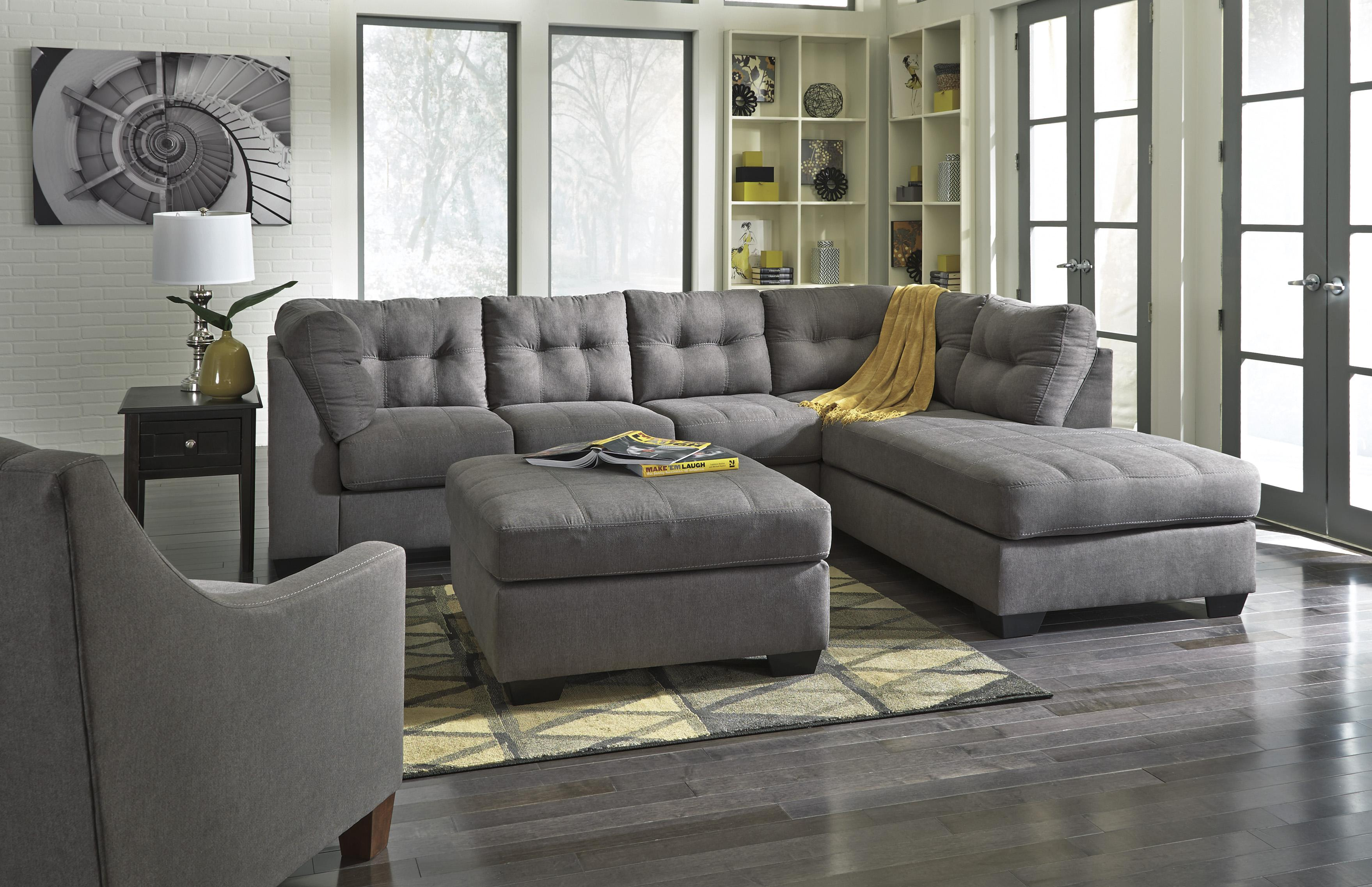 fufsack sofa sleeper lounge chair clic tufted 2 piece sectional w and right chaise by