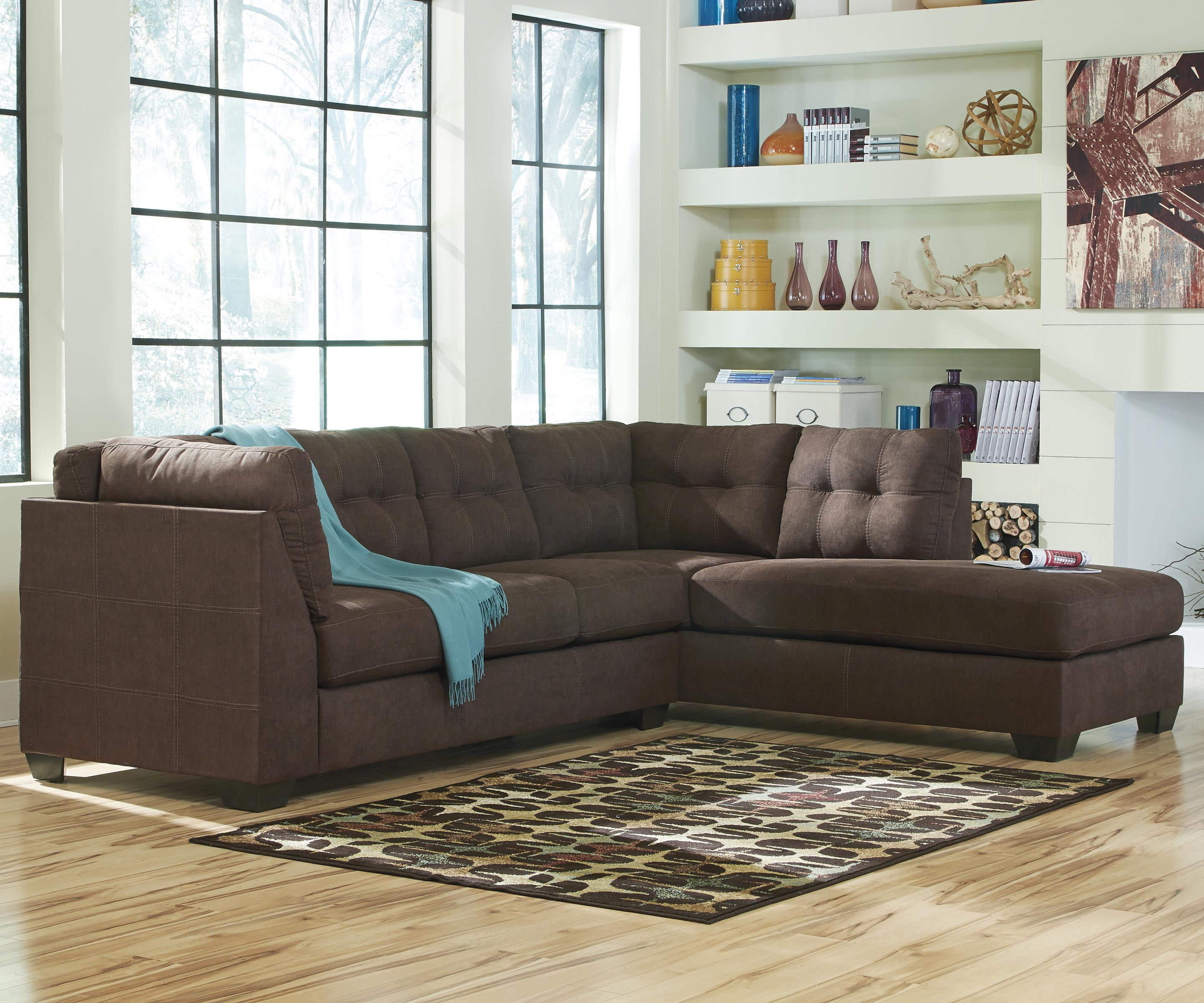 left chaise sofa sectional slipcover grey fabric l shaped 2 piece with right by benchcraft wolf