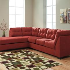 2 Piece Sectional Sofa Chaise Soft Brown Leather With Left By Benchcraft Wolf