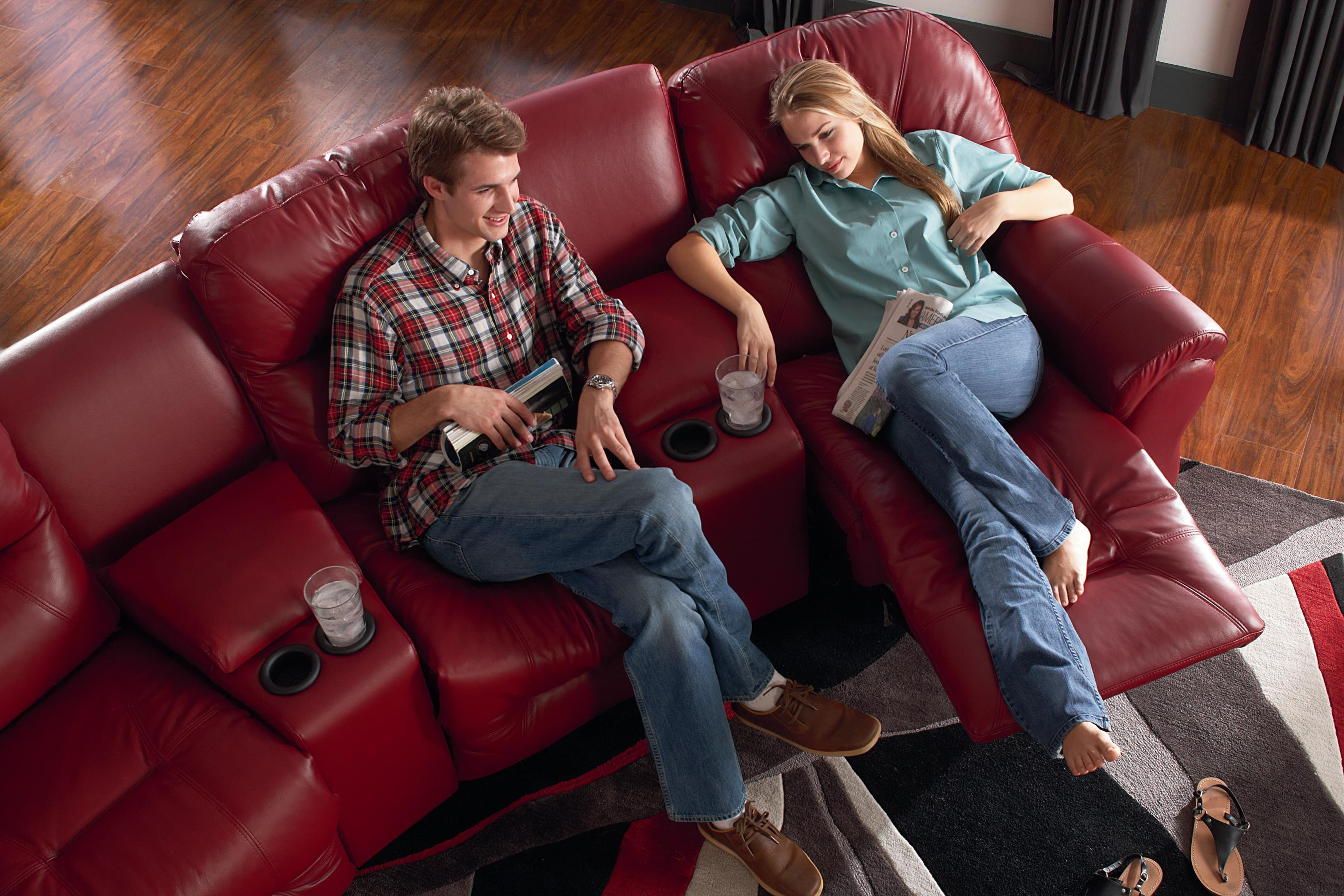 sofa theater pasadena one piece leather slipcover 4 seater power reclining home group by best