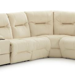 Reclinable Sectional Sofas Leather Sofa With Chaise Casual Reclining Storage Console And