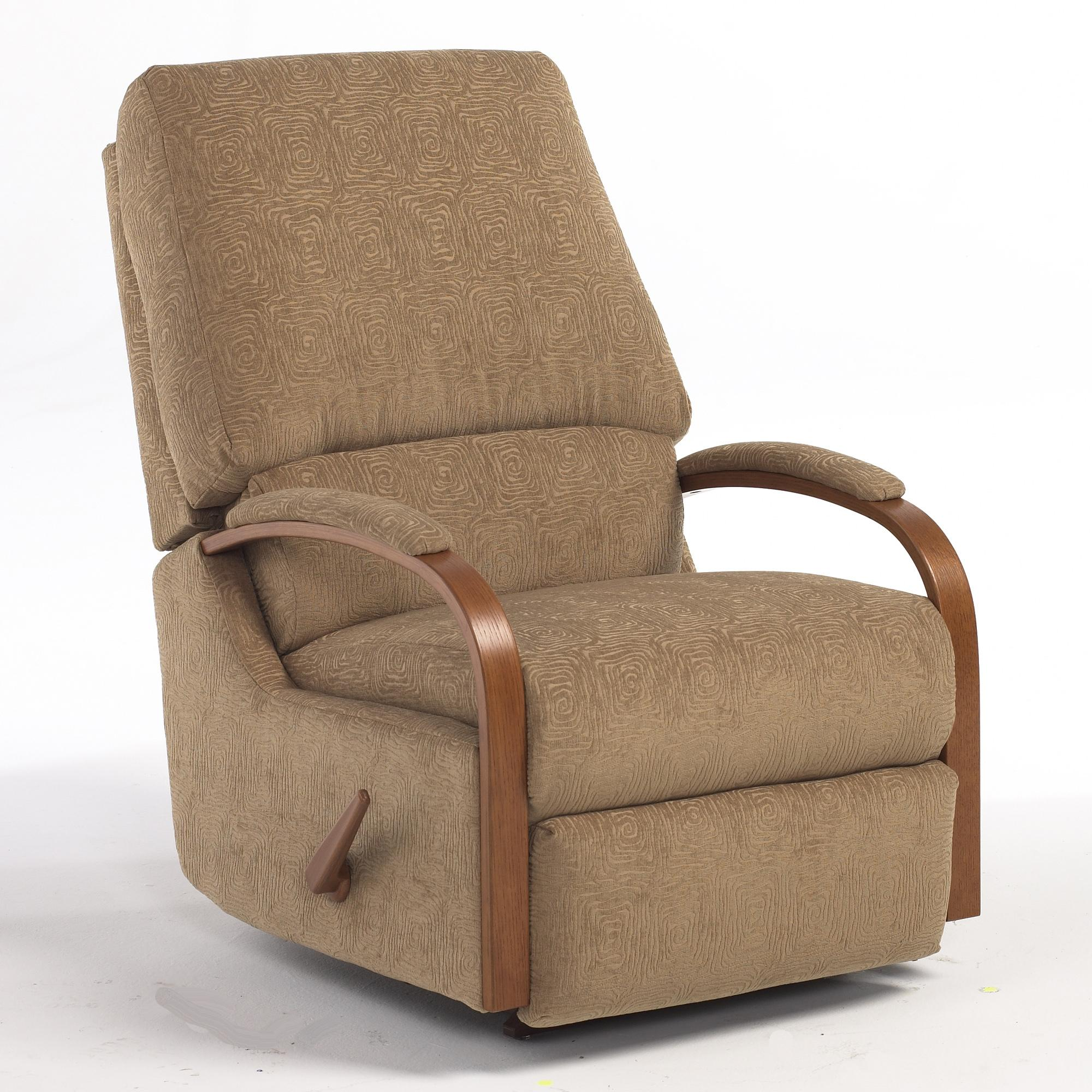 Recliner Rocking Chair Pike Swivel Rocking Reclining Chair By Best Home