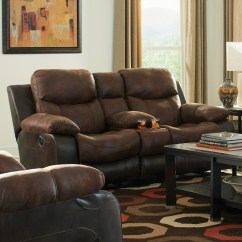 Power Reclining Sofa With Cup Holders Frame Blueprints Console Loveseat By