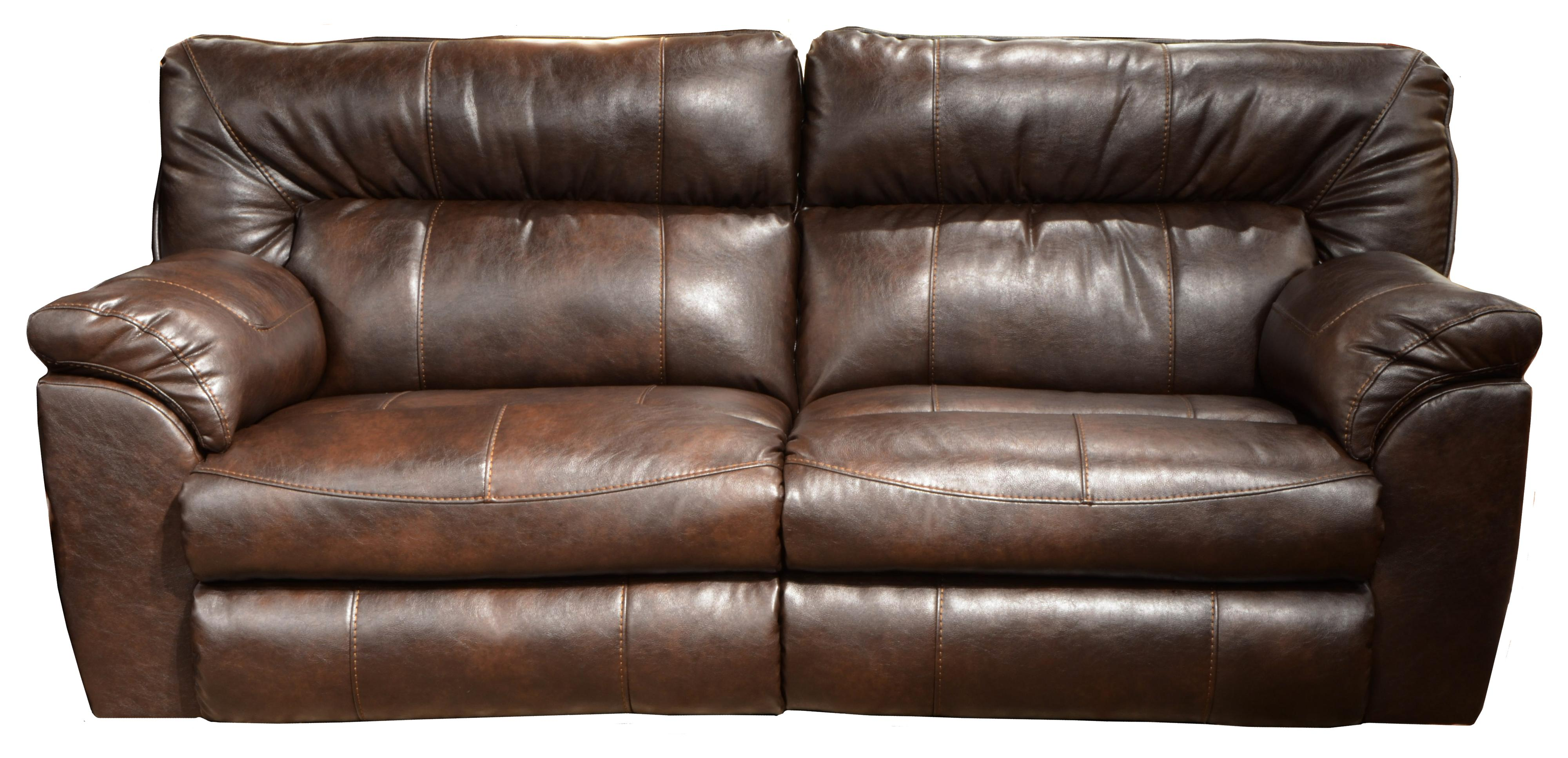wide sofas rounded corner faux leather extra reclining sofa by catnapper wolf