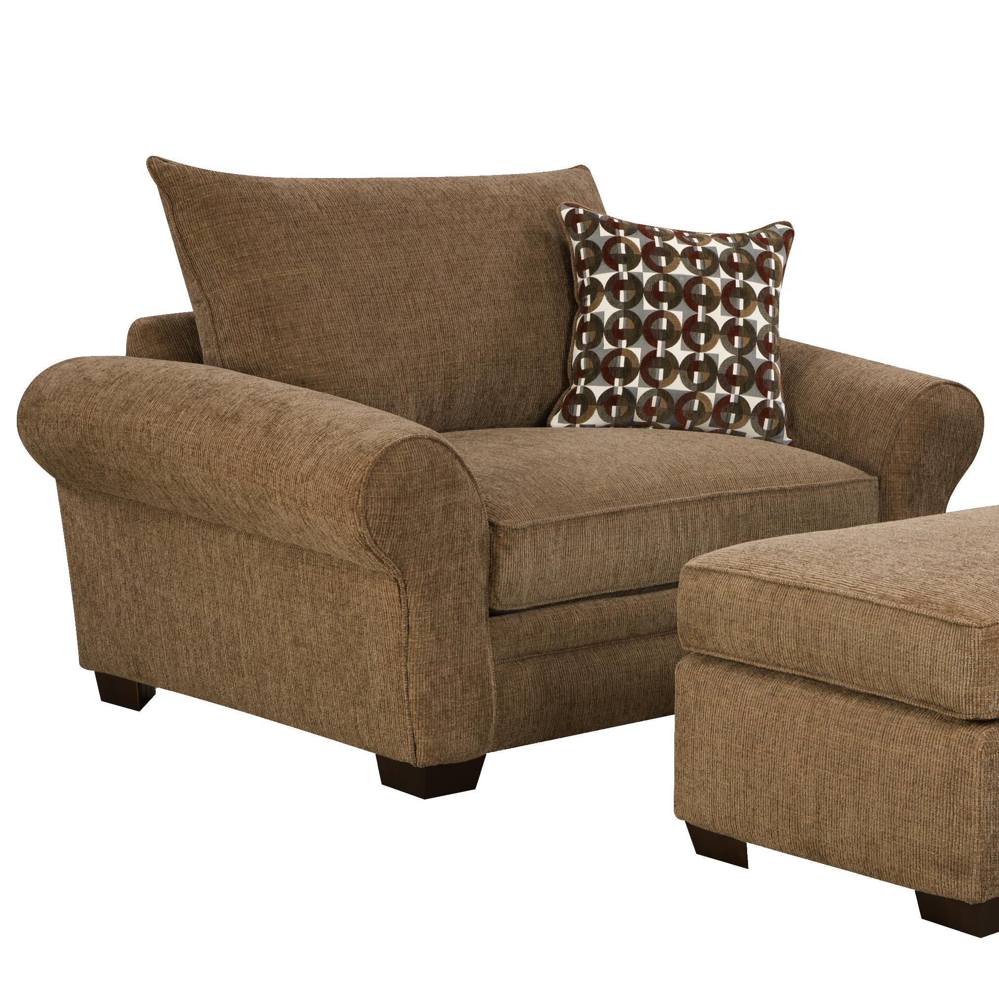 Extra Large Chair and a Half for Casual Styled Living Room