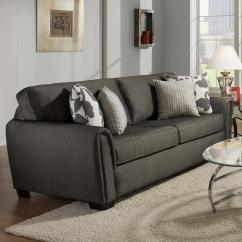 Sleeper Sofa No Arms Brown Light Grey Walls Contemporary Stationary With Tapered Roll