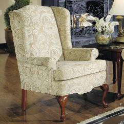 Traditional Wingback Chair Gel Cushion For Office As Seen On Tv Wing With Rolled Arms By Craftmaster