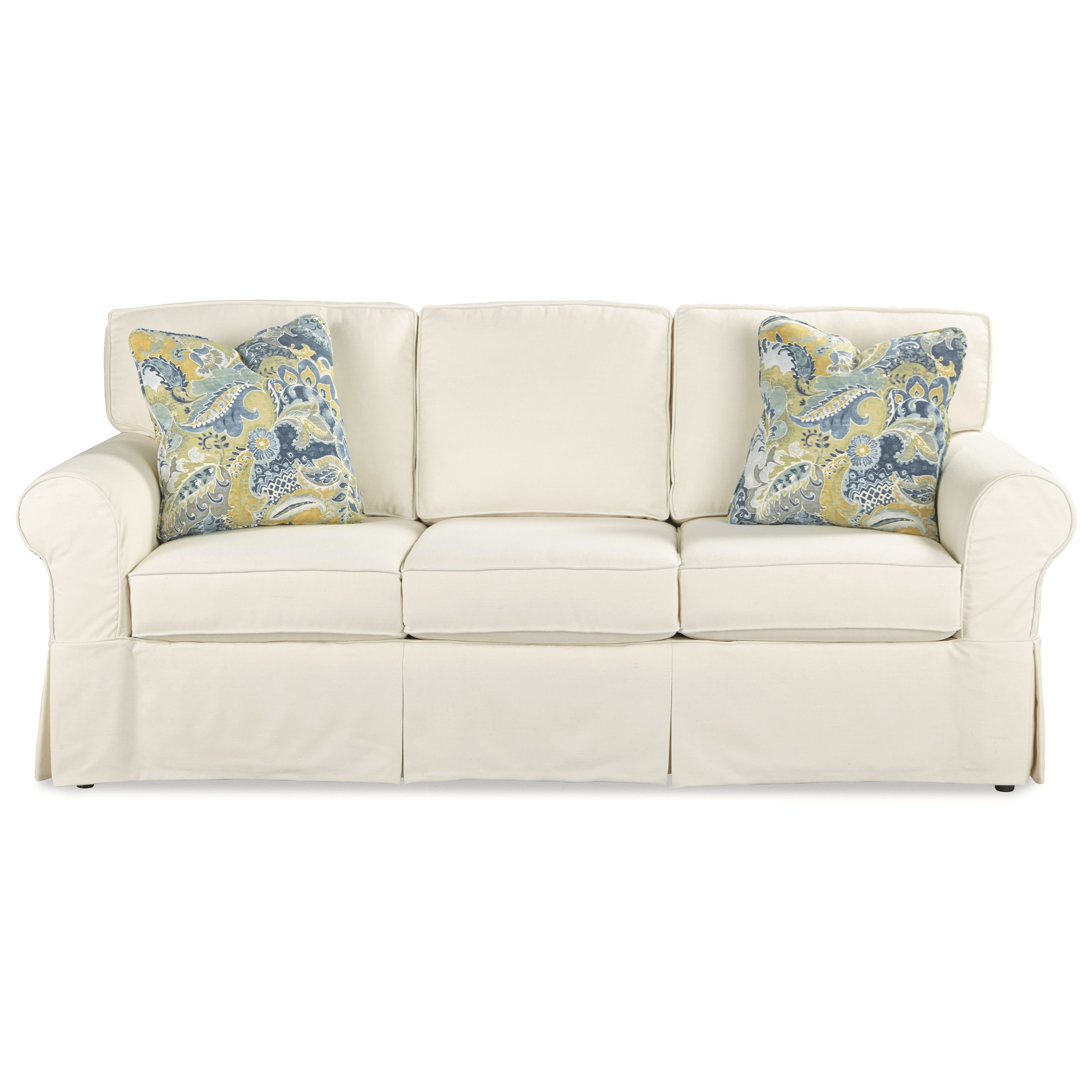 queen sofa bed no arms designs for lobby casual slipcover sleeper with innerspring