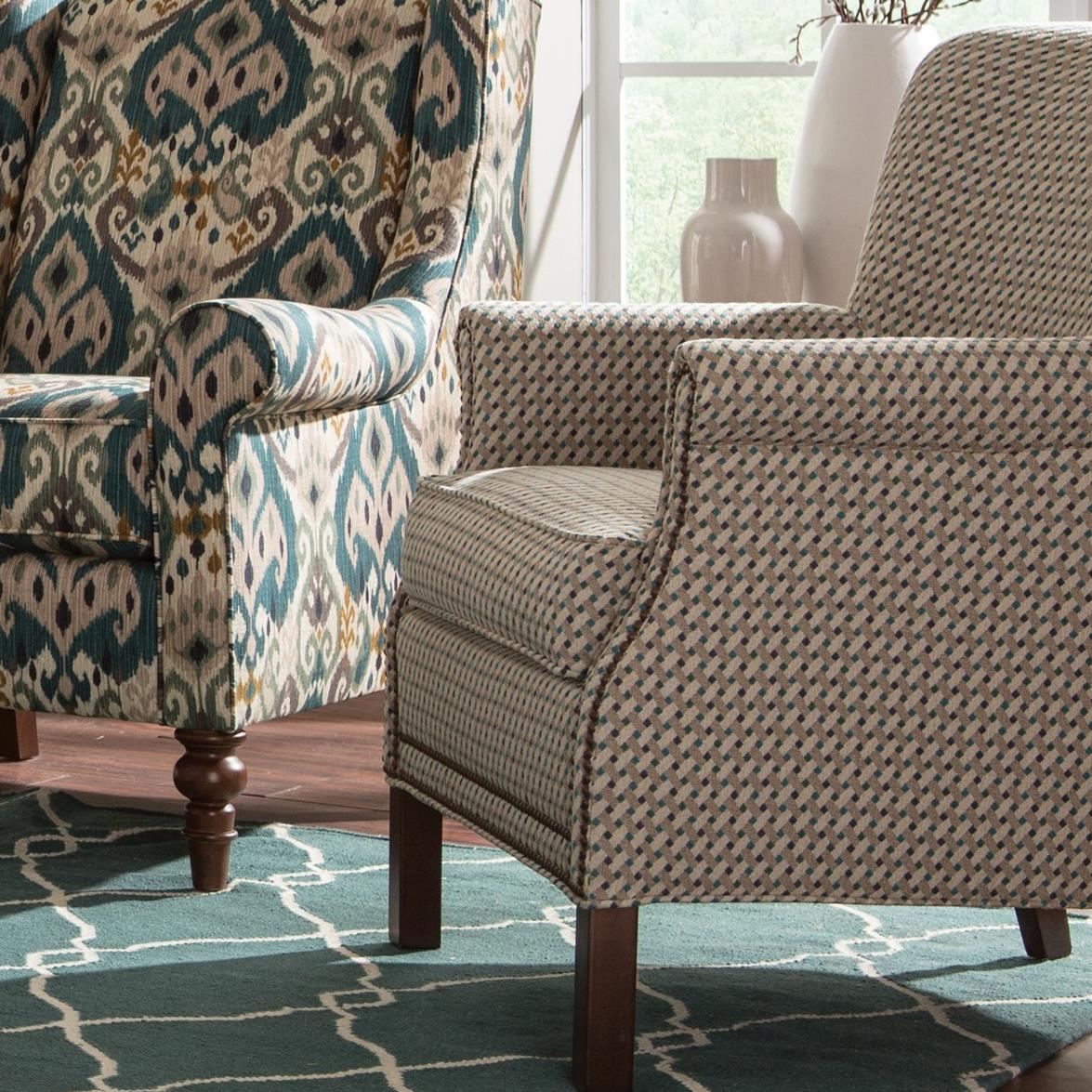 transitional accent chairs grey weave garden 2 rolled arm chair with nailhead trim by
