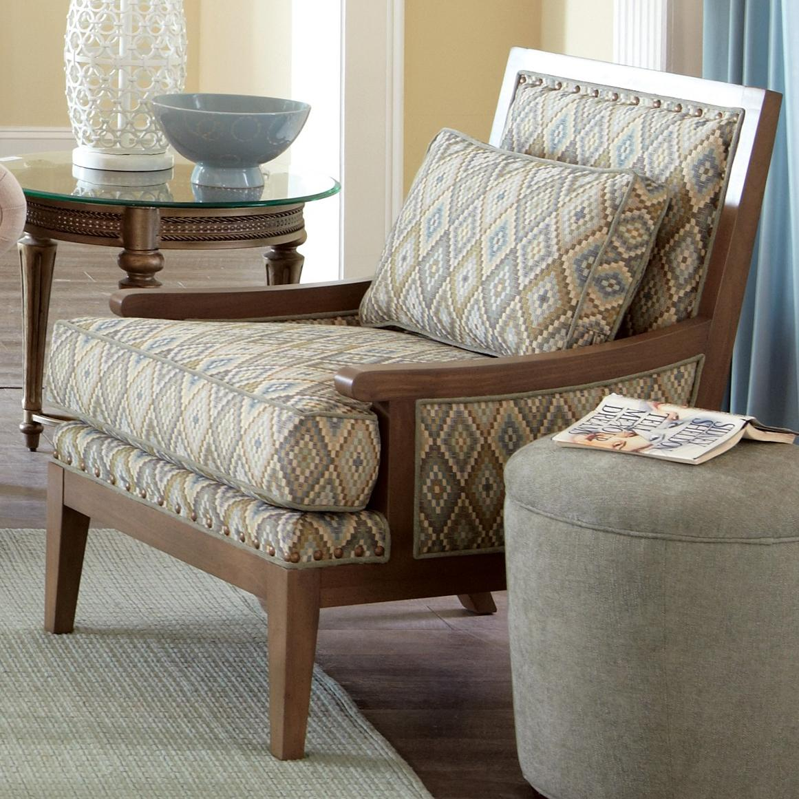 Wood Accent Chair Contemporary Exposed Wood Accent Chair By Craftmaster