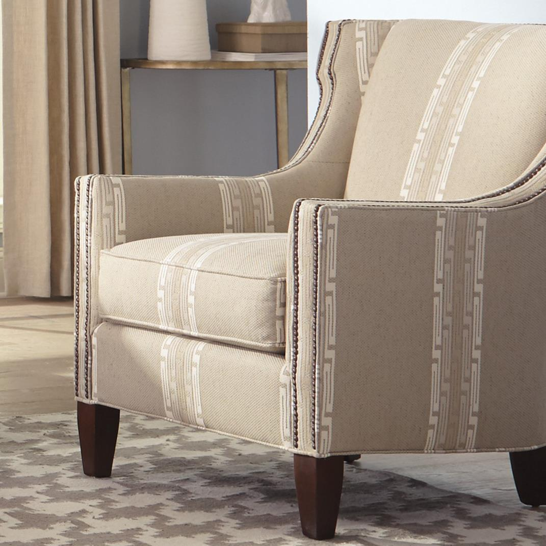transitional accent chairs the chair is against wall t shirt wing with nailhead trim by craftmaster