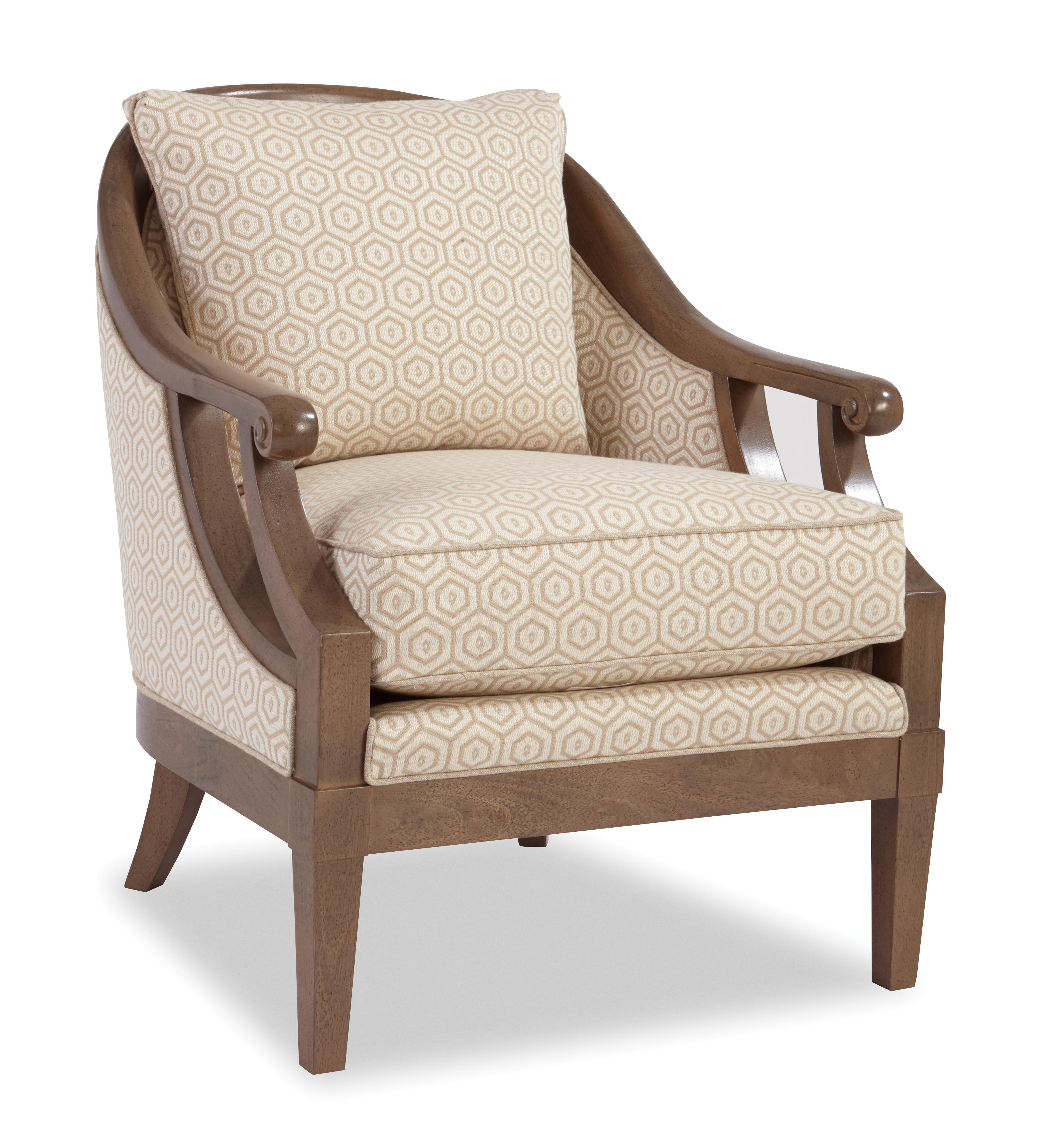 accent chairs with arms sleeping in a chair gif traditional wood framed scroll by