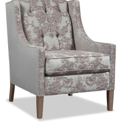 Transitional Accent Chairs White Folding For Weddings Chair With Button Tufted Back By Craftmaster