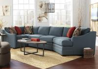 Four Piece Customizable Sectional Sofa with RAF Cuddler by ...