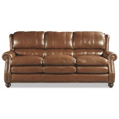 Traditional Leather Sectional Sofas Sofa With Washable Covers Bustle Back And Nailhead