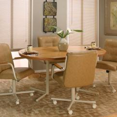 Table With Swivel Chairs Chair Cover Hire Company Liverpool Casual Rectangular Dinner W 4 By