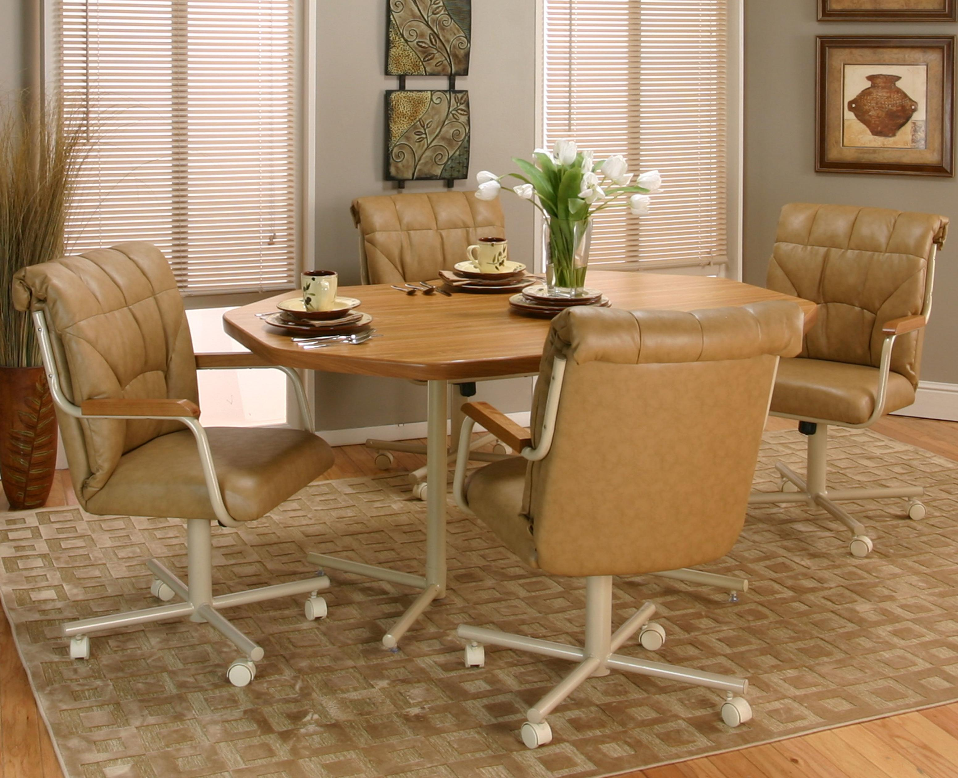 Swivel Dining Chairs With Casters Tilt Swivel Dining Chair With Casters By Cramco Inc