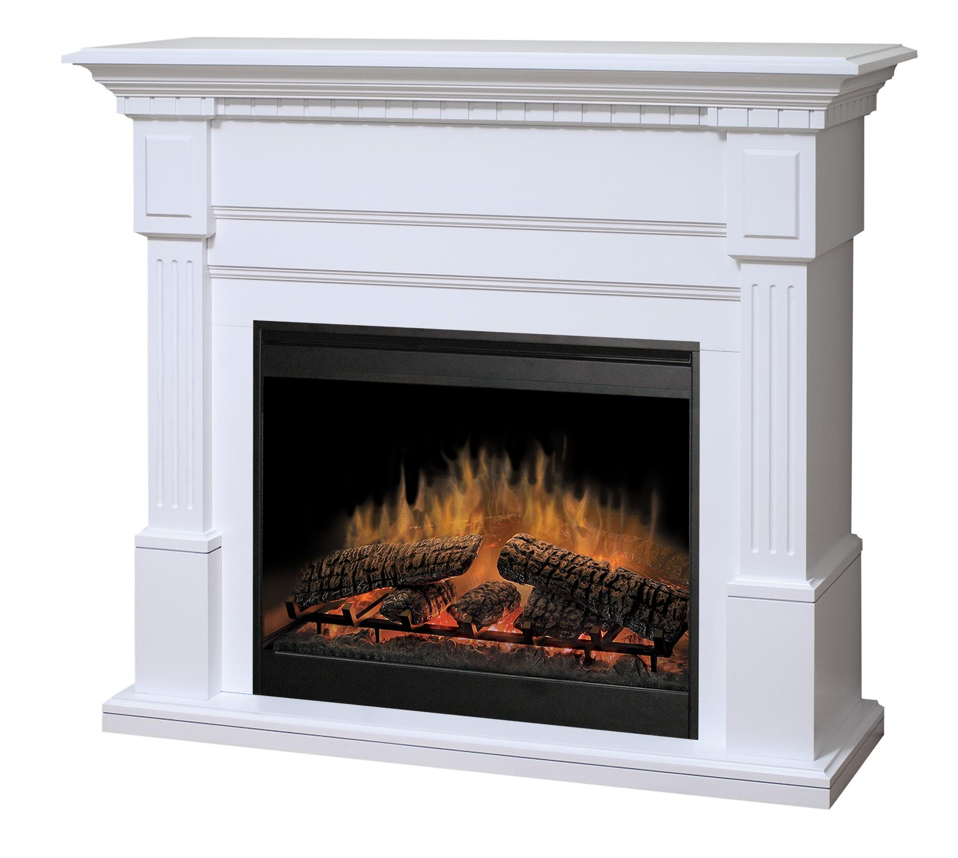 Essex White Electric Fireplace by Dimplex  Wolf Furniture