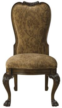 Formal Upholstered Back Dining Arm Chair furnished with ...