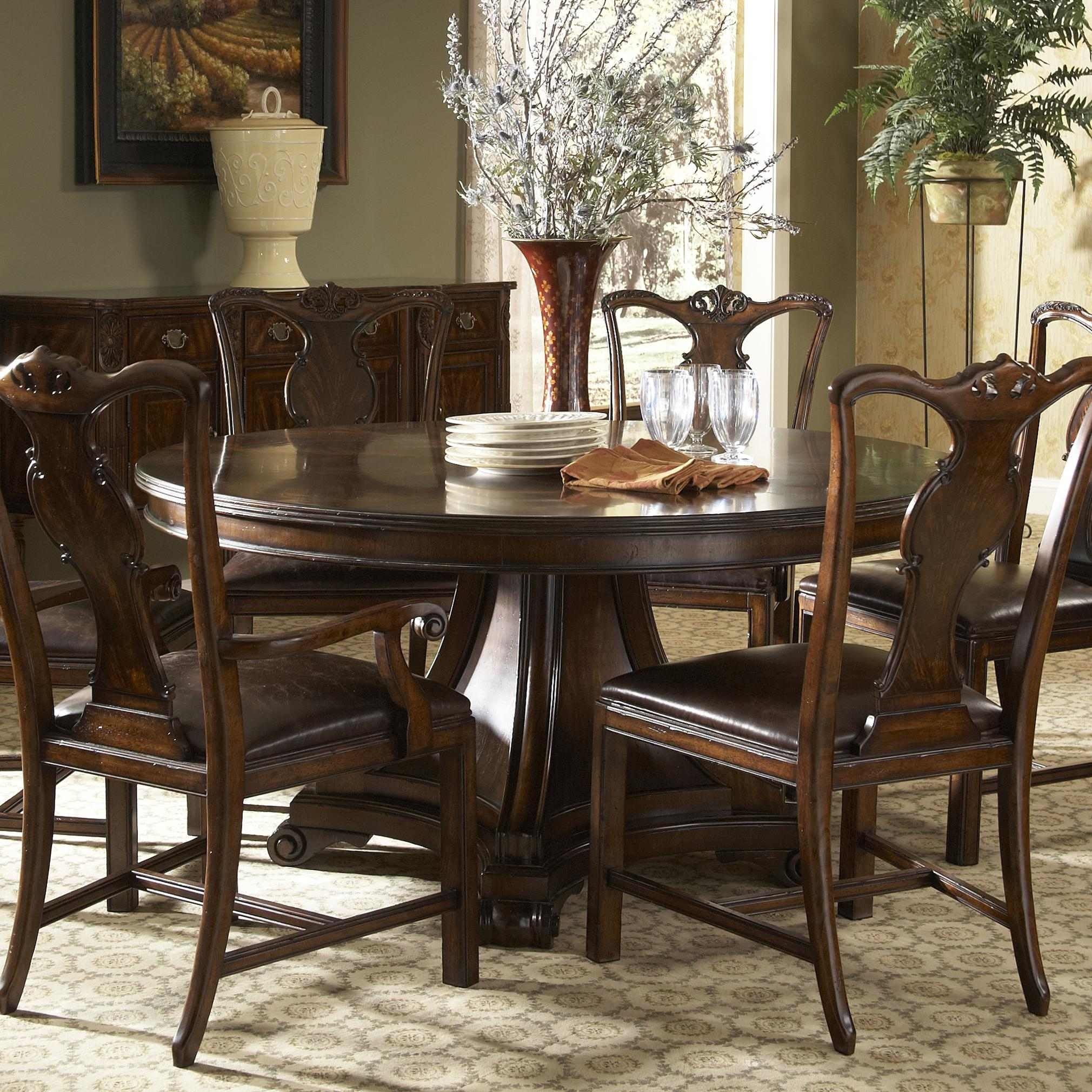 Traditional Dining Room Chairs Traditional Round Dining Table With Inlay By Fine