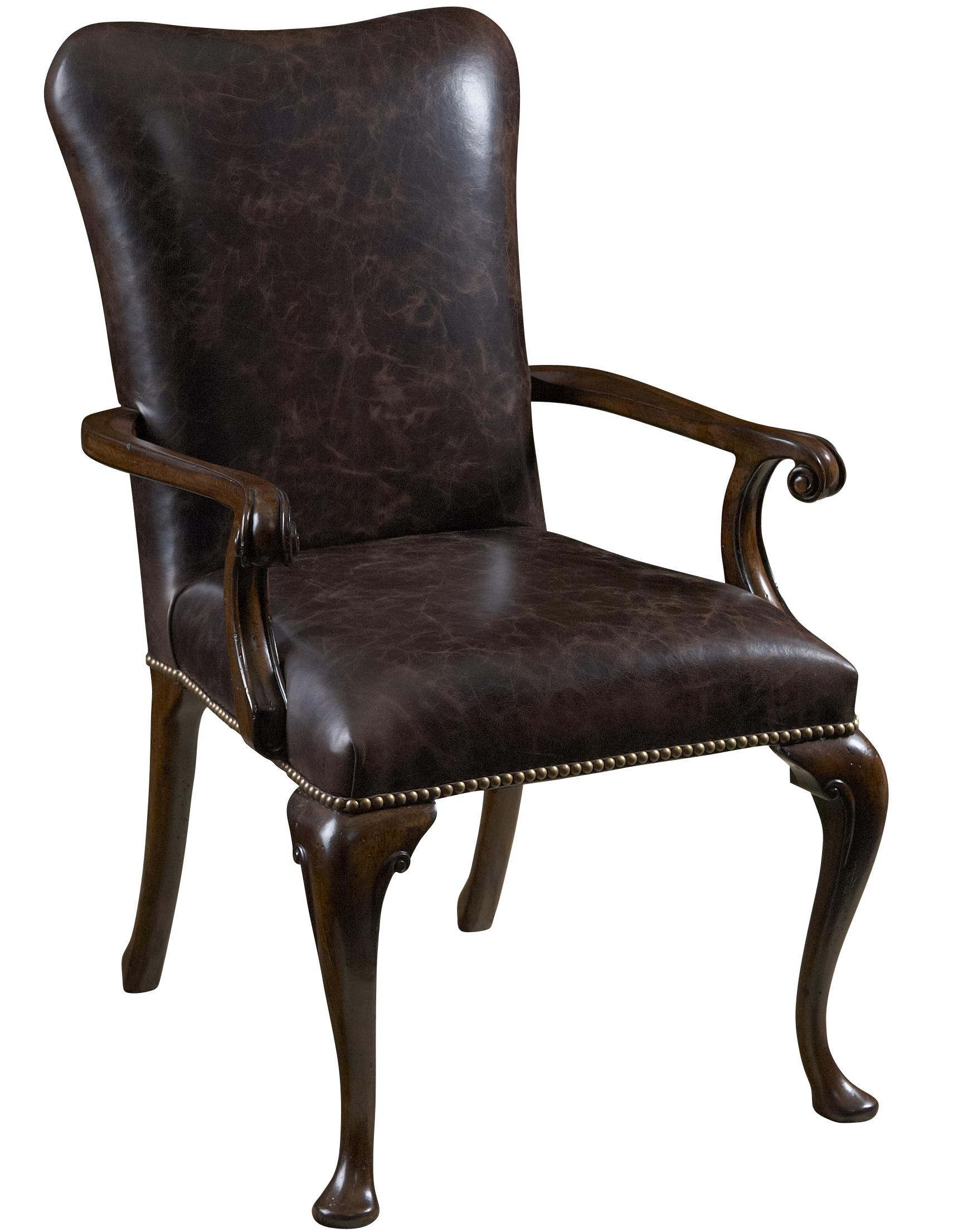 Upholstered Dining Chairs Leather Upholstered Dining Arm Chair By Fine Furniture