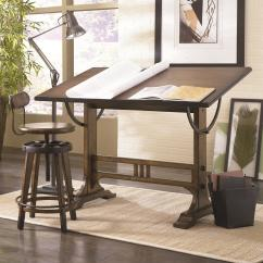 Drafting Table Chair Height Wheelchair Names Architect Desk And Adjustable Swivel Stool By Hammary