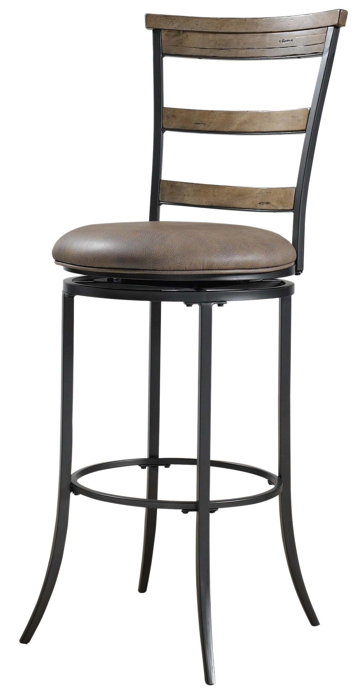 swivel chair ladder stand office chairs for wooden floors charleston back bar stool by hillsdale