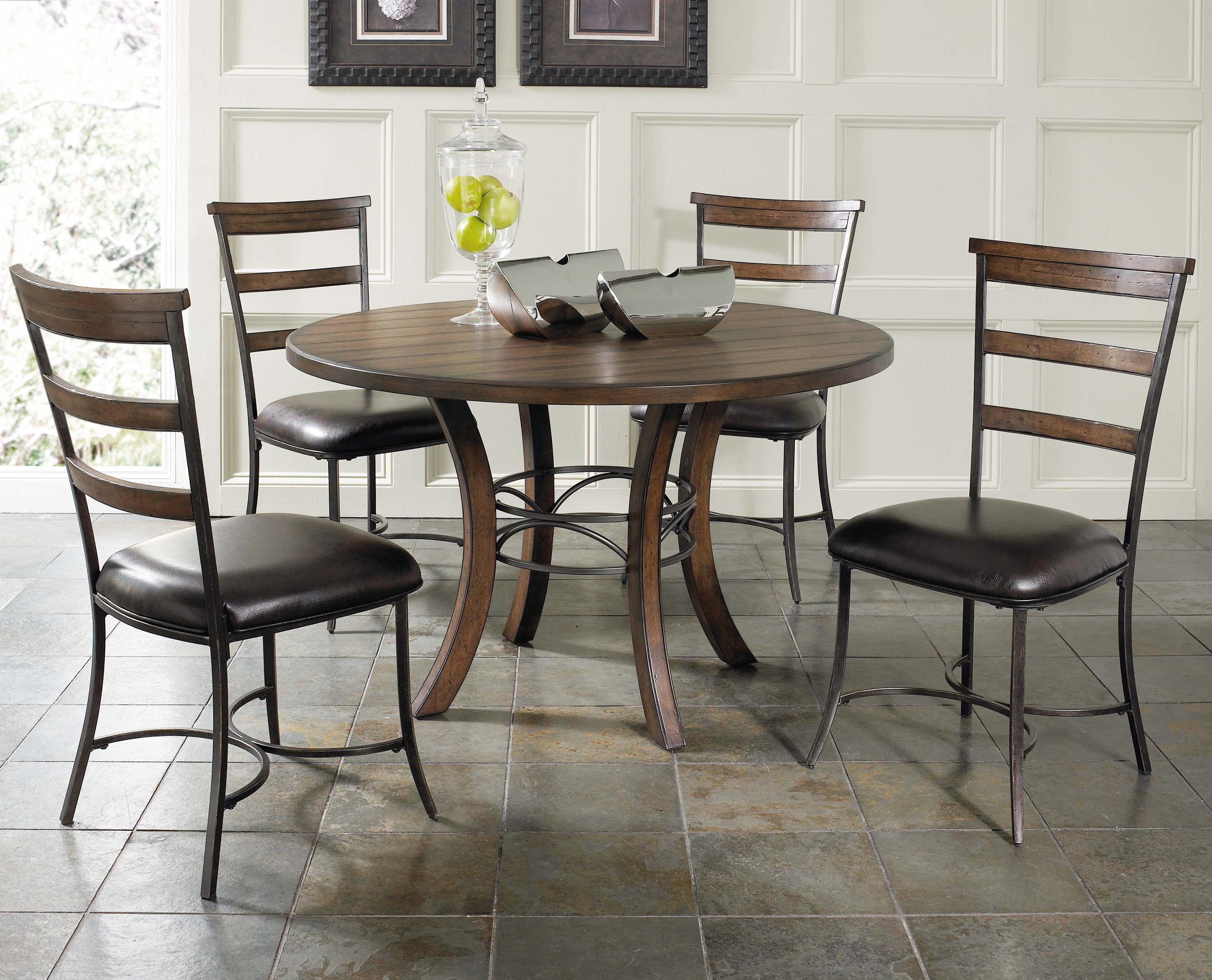 round dining chairs skovby chair wood table with metal acent base by hillsdale