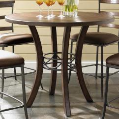 Tall Round Bar Table And Chairs Bean Bag Chair Covers Diy Wood Counter Height By Hillsdale Wolf