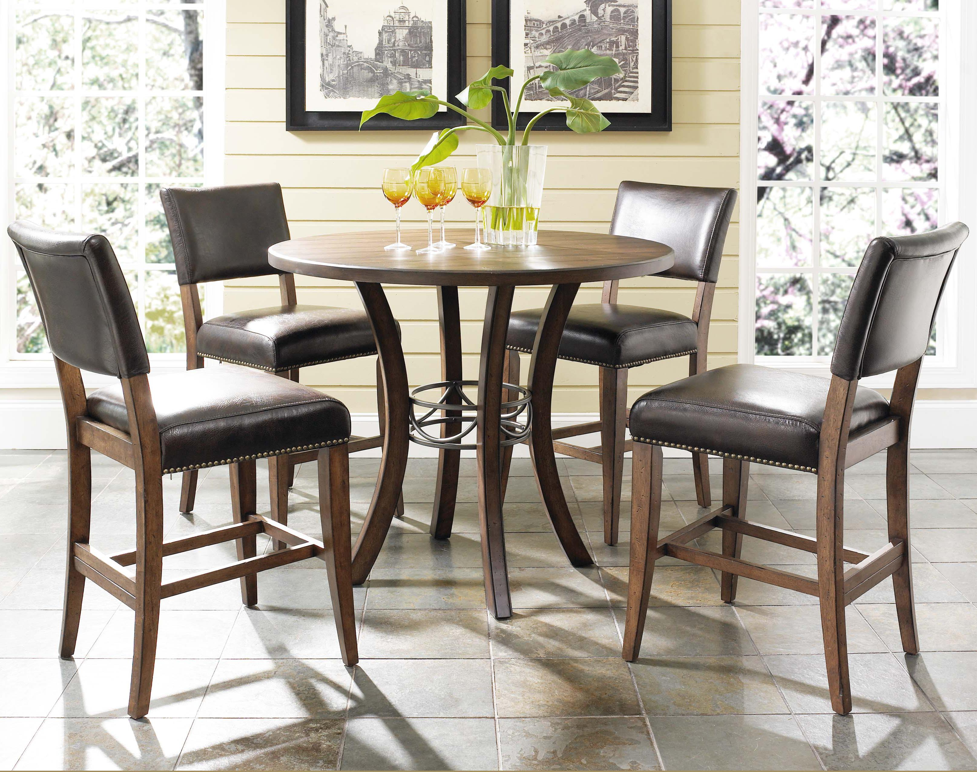 tall round kitchen table and chairs wheelchair that stands you up wood counter height by hillsdale wolf